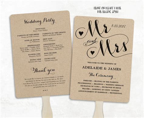 wedding fans printable wedding fan program template fan