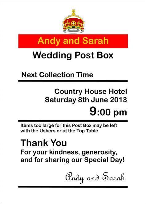 Personalised royal mail Post Box Wedding Card Box Wishing