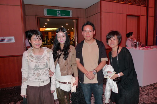 With Malaysian filmmaker Charlotte Lim, actress Thien See and Korean hippie girl