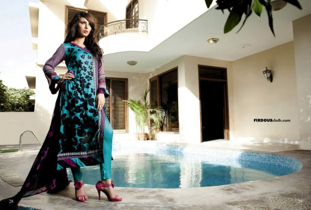 Firdous-Chiffon-Summer-Lawn-Collection-2013-Long-Shirt-with-Short-Tight-Trouser-8