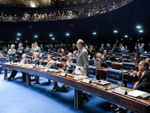 Plenário do Senado durante votação do projeto que estabelece novas regras para a criação de municípios (Foto: Jefferson Rudy / Agência Senado)