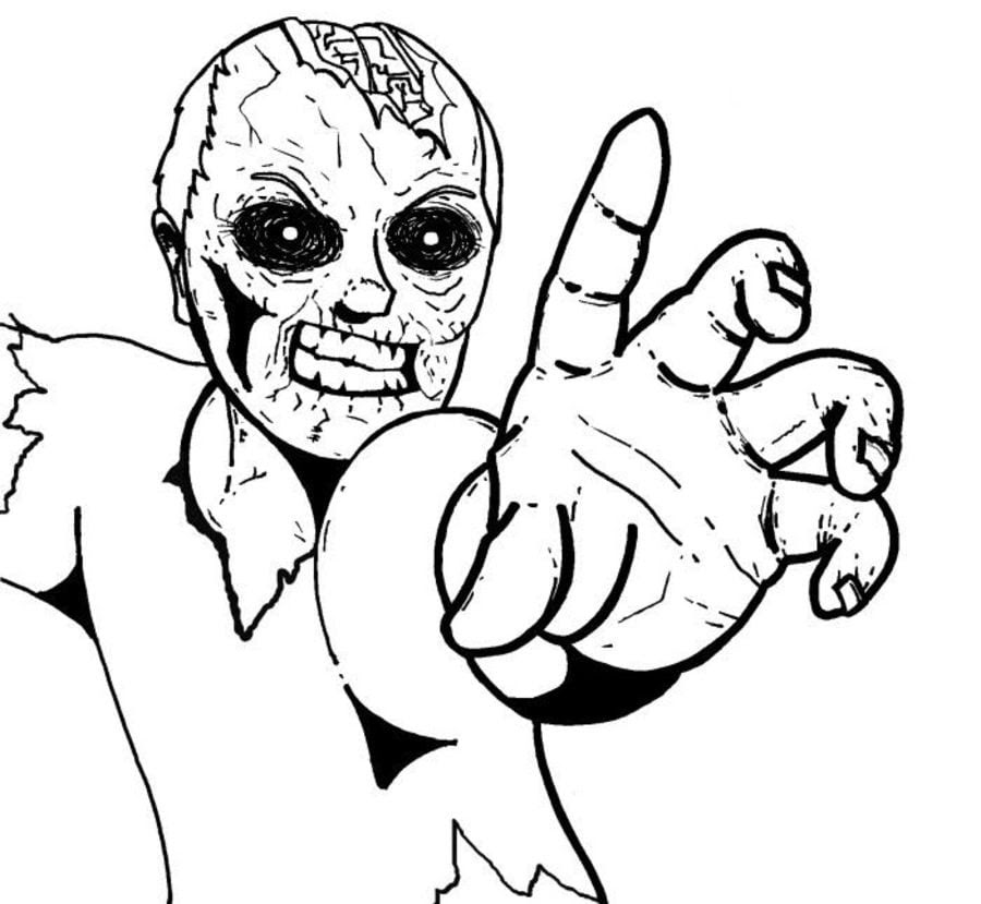 19 awesome halloween ausmalbilder zombie