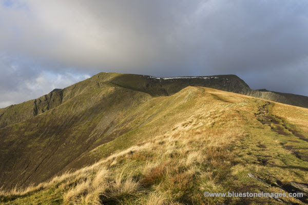 01M-6166 The Summit of Blencathra from the Scales Fell Ridge Path Lake District Cumbria UK