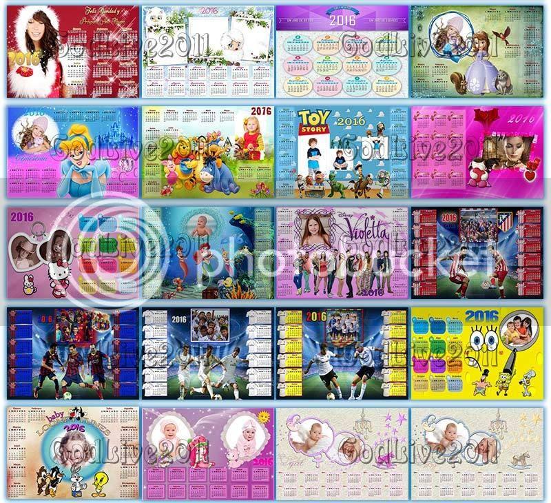 calendarios psd 2016 editables