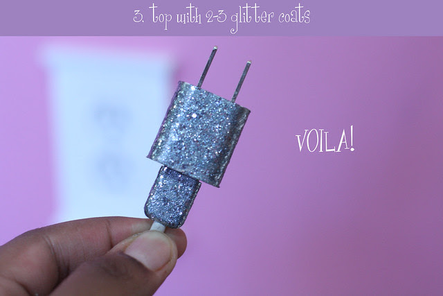 glitter charger diy 5