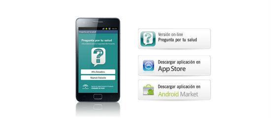 Dispositivo móvil con el logo de la app
