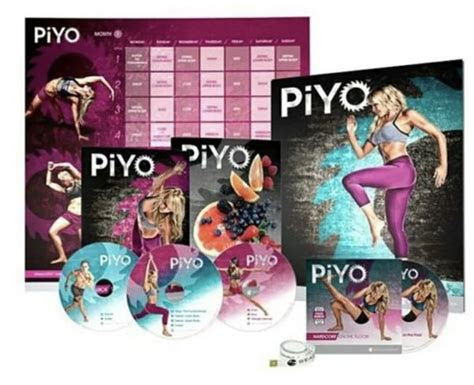 piyo workout dvd set  disc set   guided