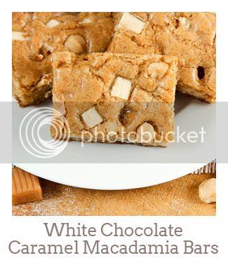 """White Chocolate Caramel Macadamia Bars"""