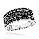 Unique Wedding Rings: 10K Gold 5 Row Black Diamond Wedding