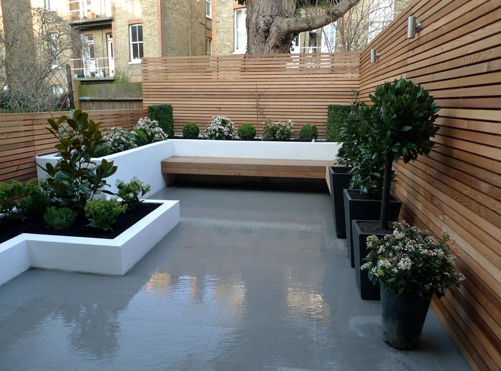 Modern London Town Garden - London Garden Design