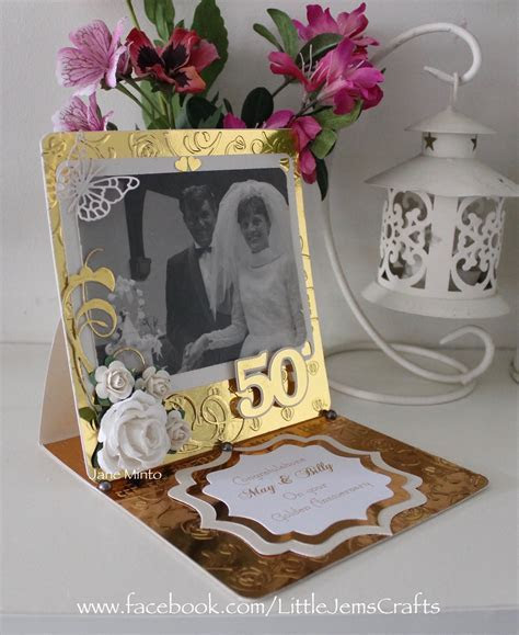 50th anniversary card. Using an original photo from 50yrs