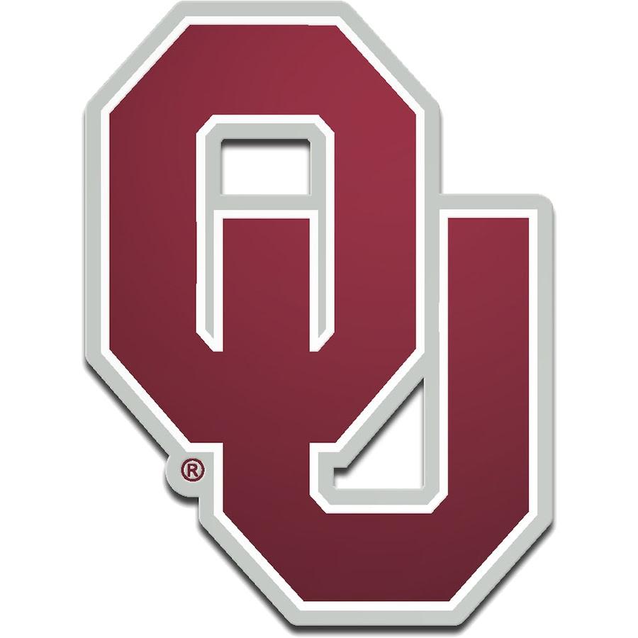Oklahoma Sooners Metallic Freeform Logo Auto Emblem