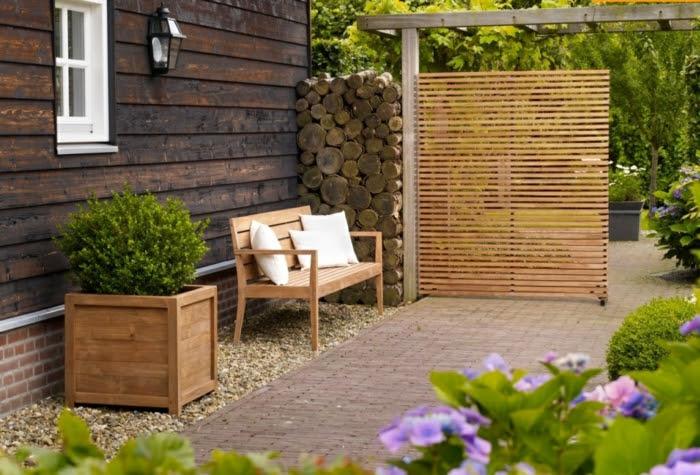 Paravent Garten - innovative und kreative Gartengestaltung ...