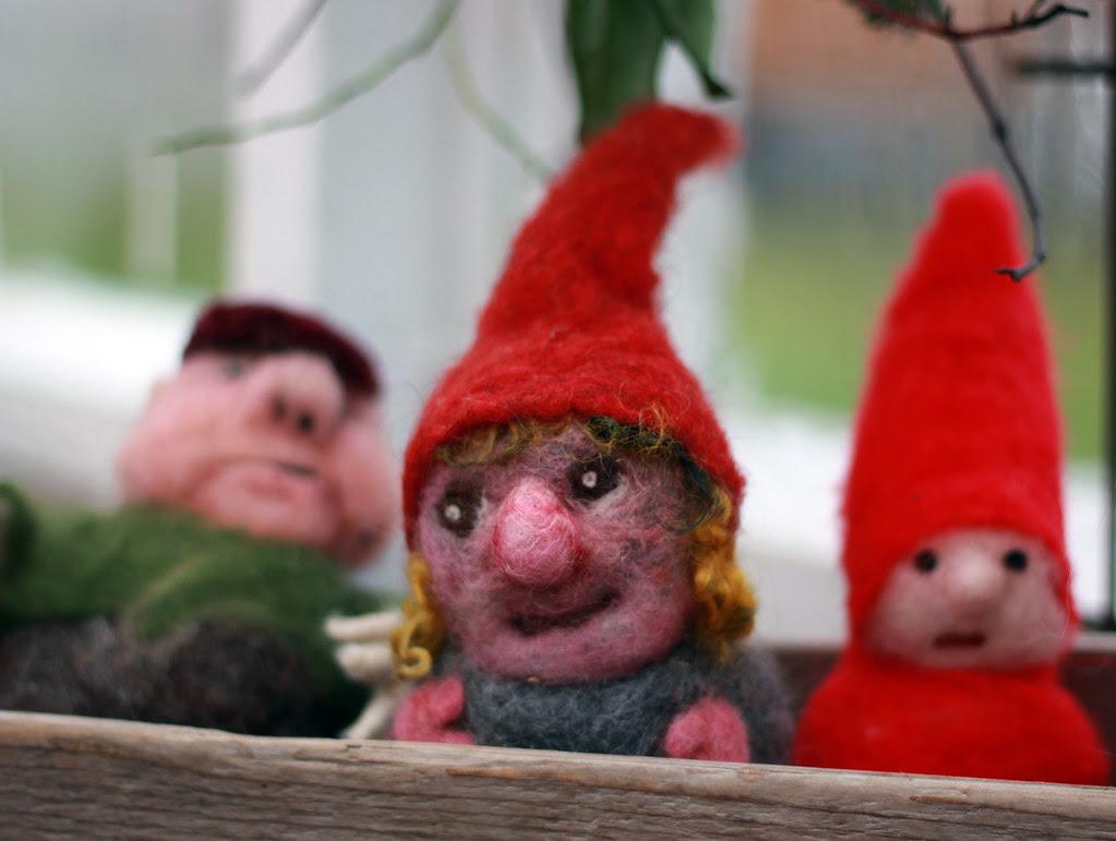 felted wool figures