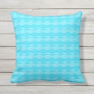 Turquoise Wavy Outdoor Pillow at Zazzle.com/lizardmarsh*