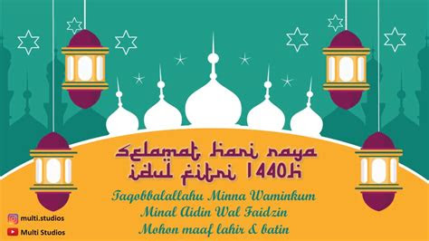 ucapan selamat hari raya idul fitri  template gratis