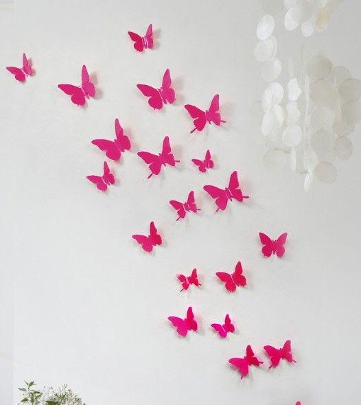 Wholesale 3d Wall - Buy 5cm 3D Vivid Butterfly Wall Sticker Art