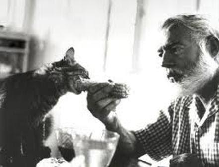 Эрнест Хэмингуэй с котиком
