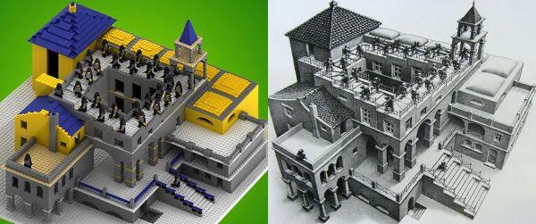 Escher Escada acima e escada abaixo