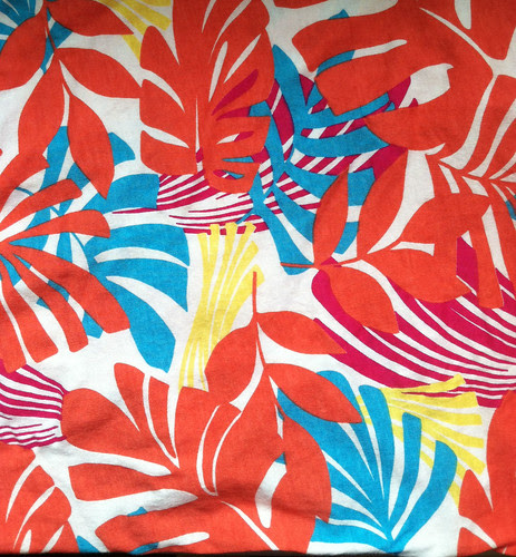 knit fabric tropical print Girl Charlee