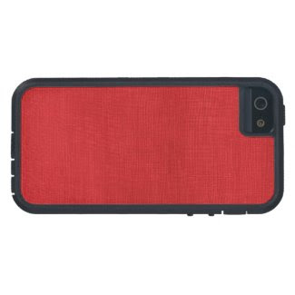 Red Linen Texture Photo iPhone 5/5S Case