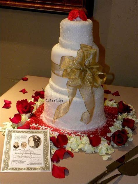 60Th Anniversary Cake Christmas Wedding Themed Cake Double