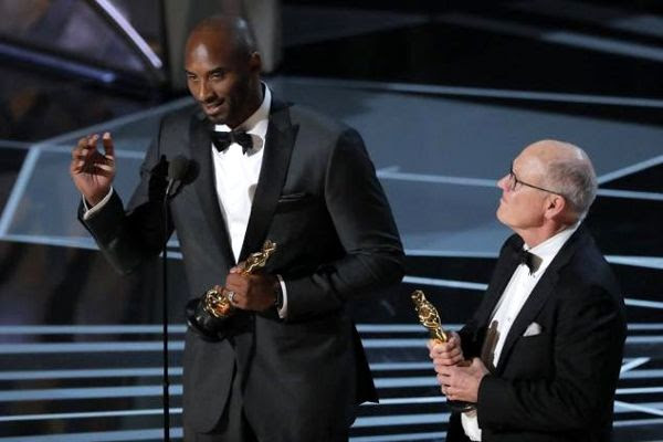 Kobe Bryant and animator Glen Keane won the Best Animated Short Oscar for DEAR BASKETBALL...at the 90th annual Academy Awards on March 4, 2018.