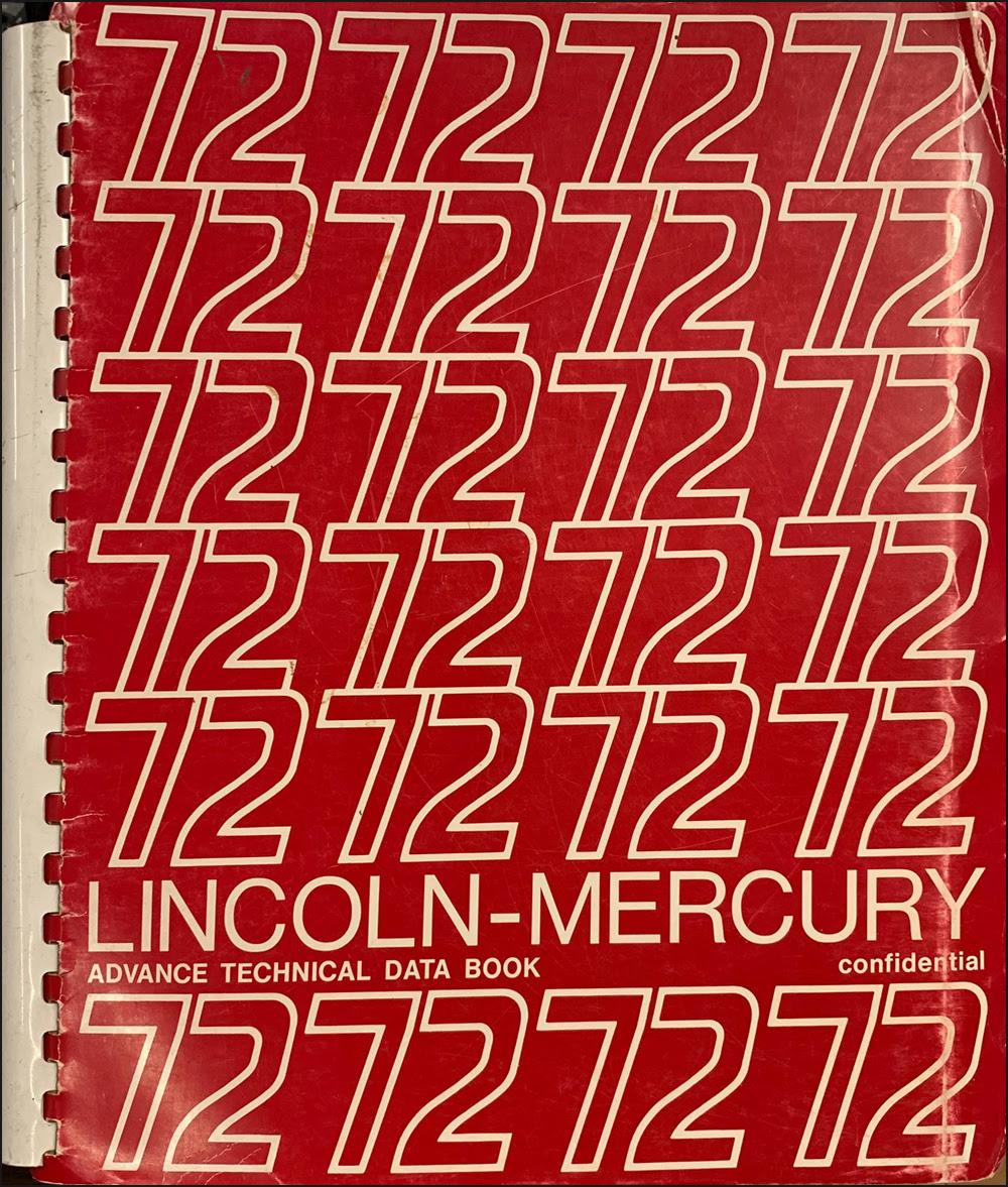 1972 Mercury Cougar Foldout Wiring Diagram Original