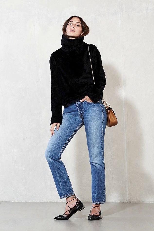 Le Fashion Blog Transition To Spring Black Turtleneck Sweater Classic Levis Jeans Chain Tan Bag Lace Up Flats Via Reformation photo Le-Fashion-Blog-Transition-To-Spring-Black-Turtleneck-Sweater-Classic-Levis-Jeans-Chain-Tan-Bag-Lace-Up-Flats-Via-Reformation.jpg
