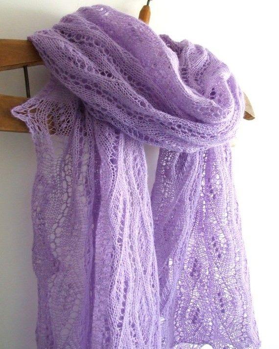 Lavender lace shawl