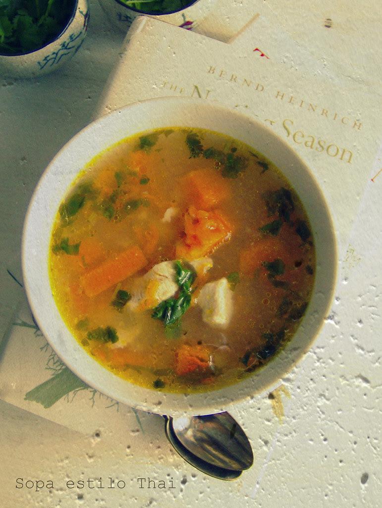 Sopa estilo Thai