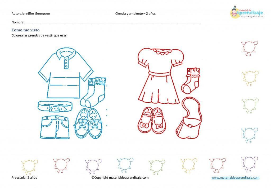 Prendas De Vestir Para Niño Y Niña Para Colorear Imagui