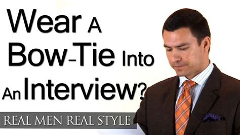 man wear  bow tie   interview style