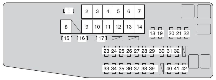 Toyota Avalon Hybrid From 2013 Fuse Box Diagram Auto Genius