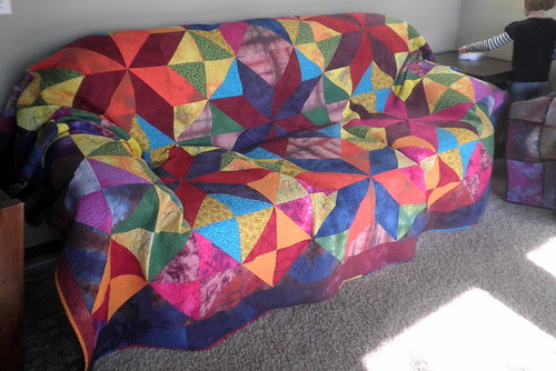 My quilt on my couch