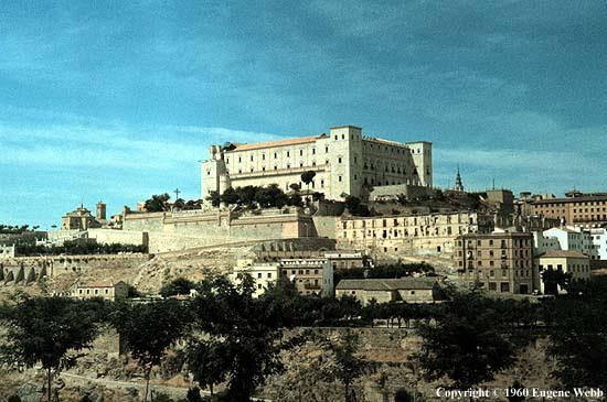Alcázar de Toledo 1960. Fotografía de Eugene Webb