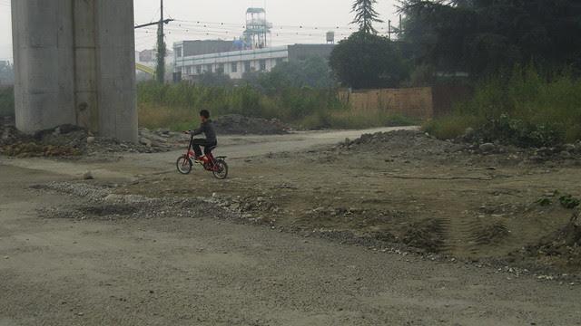 under the high speed train tracks, Xipu