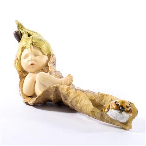 Sleeping Fairy Baby Figurine   Fairy Garden Miniatures
