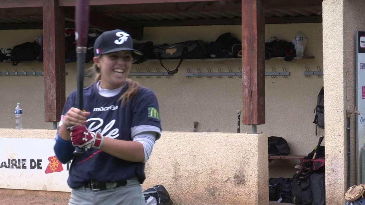 Una adolescente francesa hace historia en el béisbol de MLB