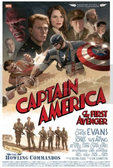 Captain America The First Avenger crew poster