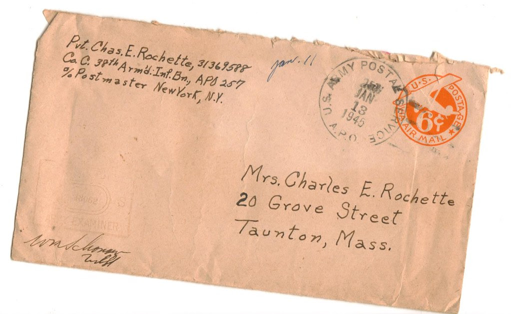 World War 2 WWII WW2 World War II soldier letter envelope 1945