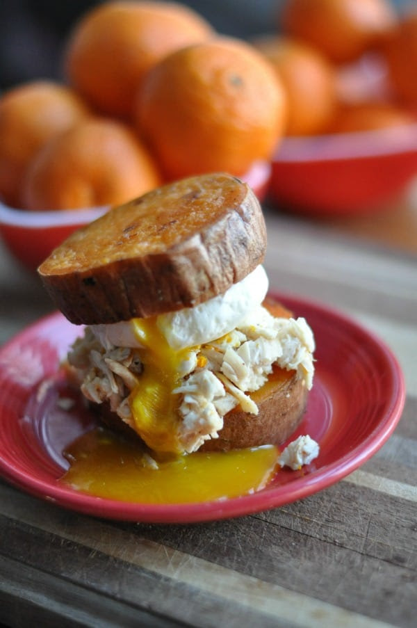Sweet Potato Bun Breakfast Sandwich