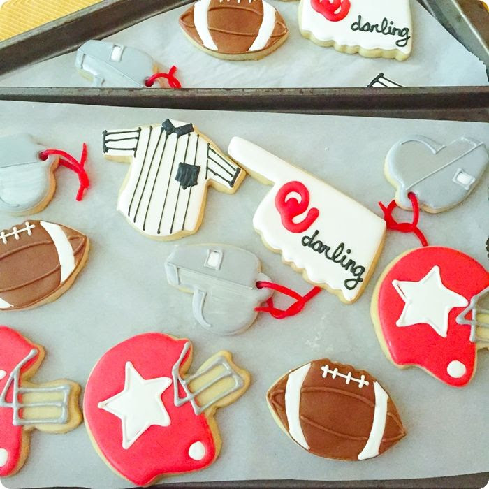 OU Sooners football cookie set ... with tutorial for whistle cookie