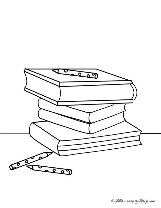 Dibujos Para Colorear Libros De La Escuela Eshellokidscom