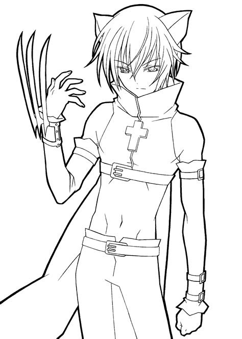 shugo chara catman anime coloring pages  kids