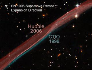 Cinta de gas en SN 1006