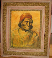 "Louis ShipShee""s 1958 Masterpiece ""Geronimo"" offered at Antiques on Broadway, # 6 Broadway North,"