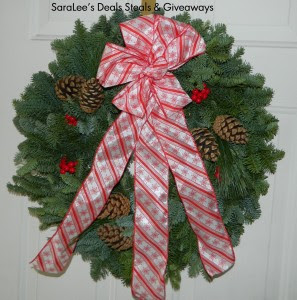 Enter to win the North Pole Wreath from Christmas Forest. GIveaway ends 12/10. US/CAN