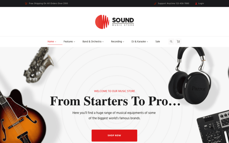 The 5 Best Music Store WordPress Themes for 2018