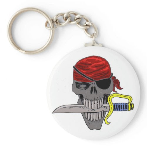 Pirate Skull Art keychain